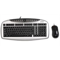 Kb-2150D Q Ps/2 M.M Set Klavye+Mouse Gümüş-Sıyah